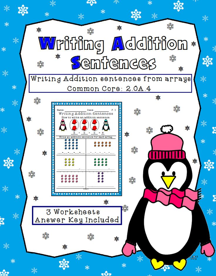 Printable Worksheets addition sentence worksheets : 174 best MATH: ADDITION images on Pinterest   Learning, Math ...