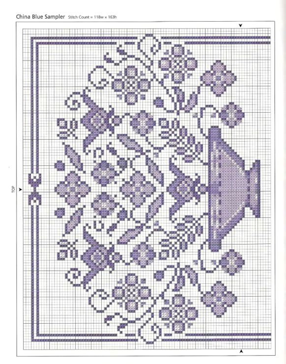 Flower Basket ~ Don't think this is vintage but a very nice pattern nevertheless. Follow the link for the bottom portion of this sampler design.
