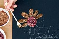 Seed mosaic craft for our plants unit - parable of the sower and parable of the mustard seed?