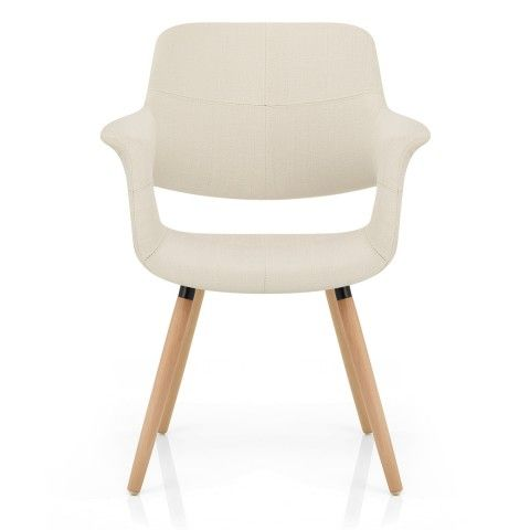 Finley Eames Style Chair Oak & Cream - Atlantic Shopping