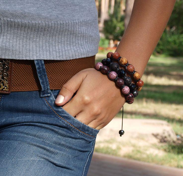 Модные браслеты шамбала для женщин. Оригинальный дизайн, ручная работа, натуральные камни. http://stefi.com.ua/