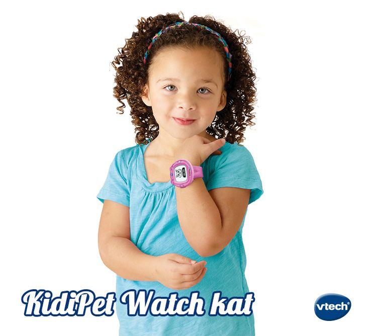 Met de KidiPet Watch heb je je digitale huisdier altijd bij de hand! Verzorg je huisdier, speel leuke spelletjes en leer je KidiPet 12 verschillende trucjes. Met vele extra's zoals analoge en digitale tijdweergave, touchscreen met schermverlichting, wekker, zandloper en stopwatch. #VTech #speelgoed #meisjesspeelgoed