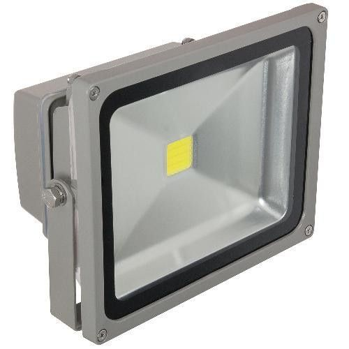 Sunlite 80167-SU 30 Watt LED Outdoor Flood Light, Gray