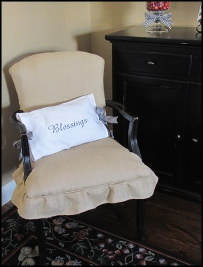 Cover A Chair My Burlap Beauty