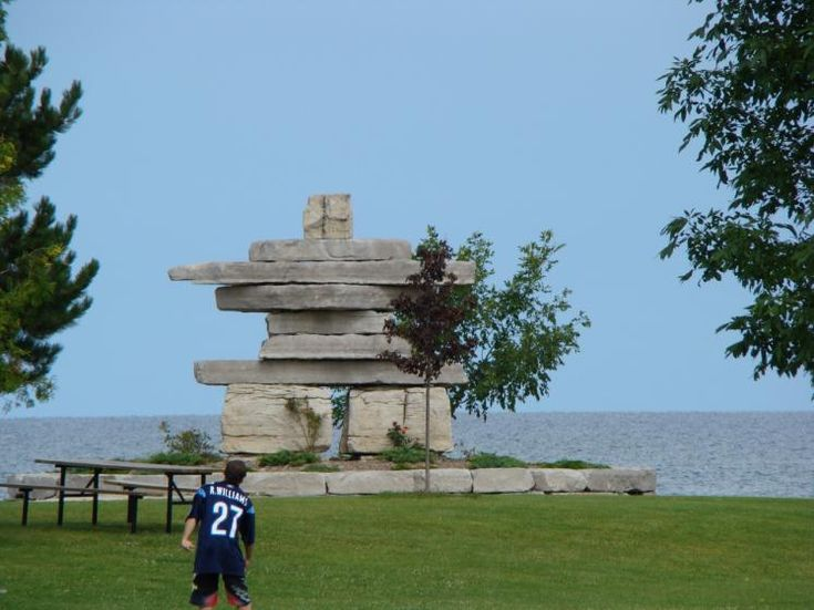 Canada Ontario Photos :: Collingwood :: Inukshuk located in Sunset Point Park…