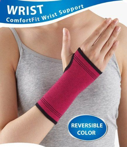 Makayla for Women Comfort Fit Wrist Support - One Size by MITA. $14.99. Reversible - Pink trimed in Black or reverse to Black trimmed in Pink - change the color to fit your mood.. 38% Nylon, 32% Cotton, 30% Elastic. Soft, Breathable and 4-way stretch material for all-day comfort. Contour design to fit a woman's shape. One size wrist measures 5-7.5 inches. Makayla for women was designed with women in mind.  No more of the unisex products geared towards men.  Makayla has sleek ...
