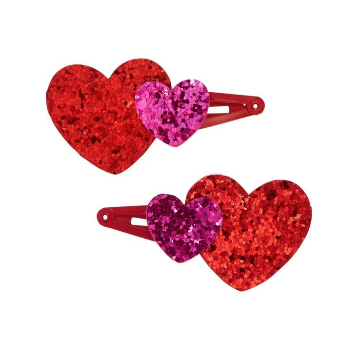 Girls Candy Red Heart Clips by Gymboree