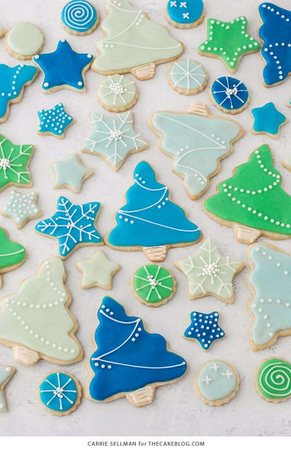Decorated Sugar Cookies - vanilla bean sugar cookies with a simple glaze icing for easy yet thoughtful gift giving | by Carrie Sellman for The Cake Blog