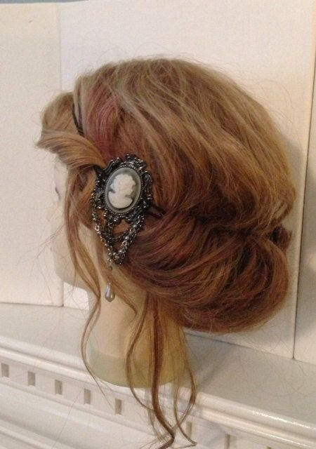 Vintage style Cameo Brooch Headband Gypsy by TheMuddyViolet