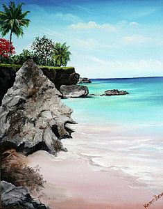 Tobago Painting - Store Bay Tobago by Karin  Dawn Kelshall- Best