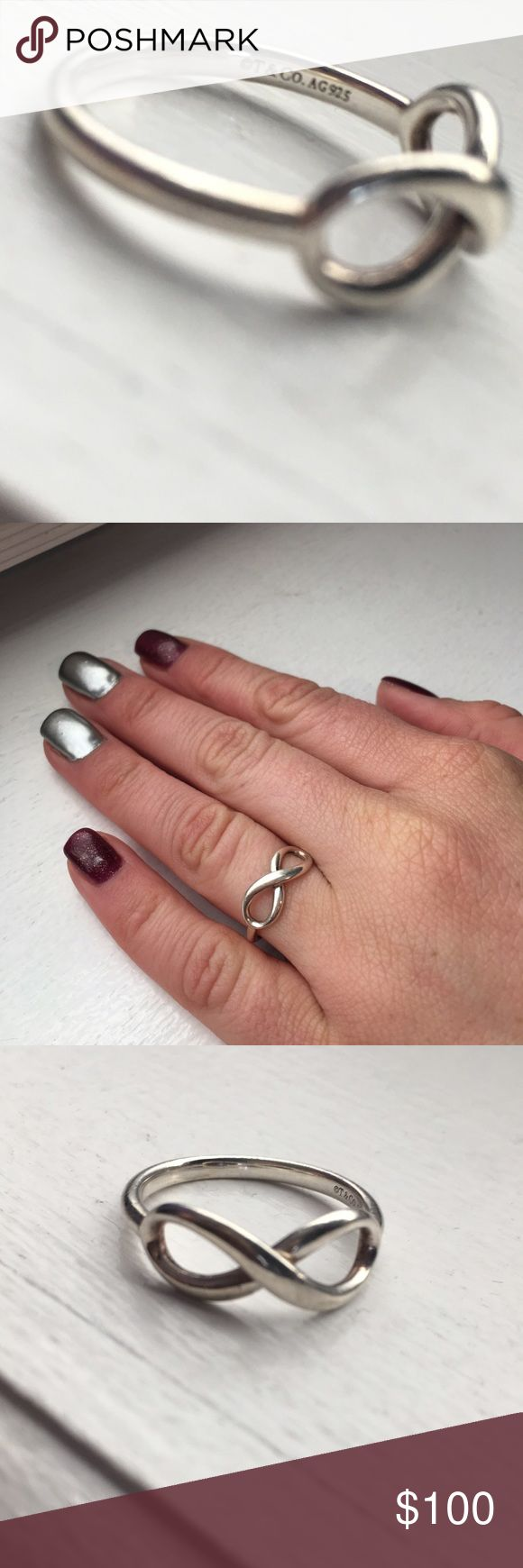 Tiffany & Co. Sterling Silver Infinity Ring Beautiful size 7 Tiffany Infinity Ring. No visible signs of wear. Tiffany & Co. Jewelry Rings