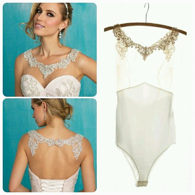 We can order bodysuits to go under ANY of our wedding gowns.   The Wedding Dress and Tux Shop. Geneseo NY.