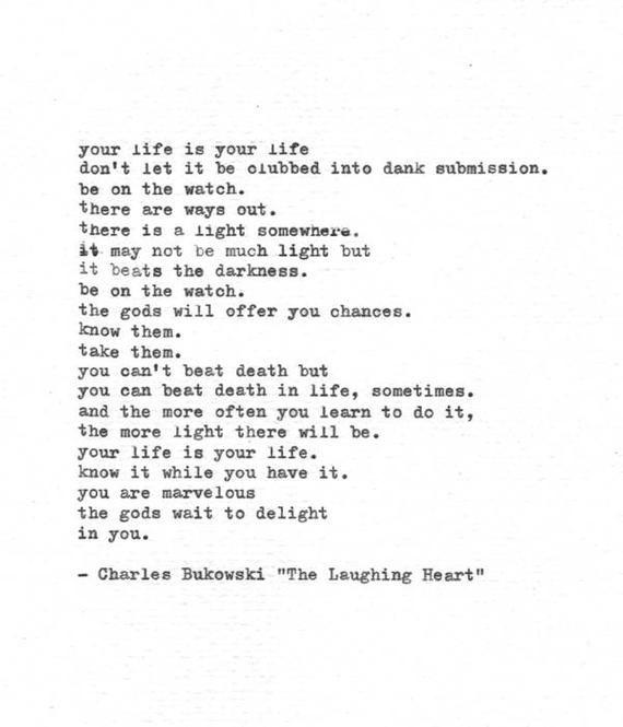 Poemas De Charles Bukowski Sobre El Amor Pin Em Bukowski