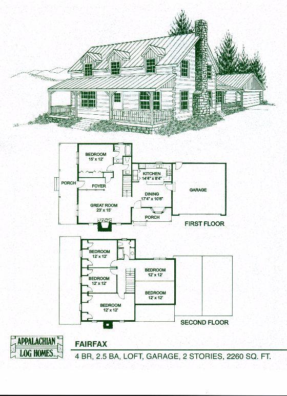 Appalachian log timber homes fairfax log cabin hybrid for Appalachian house plans