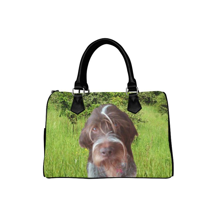Dog and Flowers Boston Handbag. FREE Shipping. #artsadd #bags #dogs
