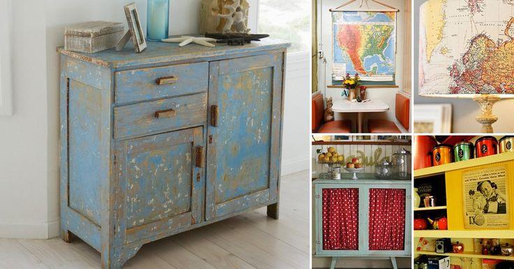 Inspírate con estas ideas creativas para renovar la decoración de tu hogar agregándole originales detalles vintage.