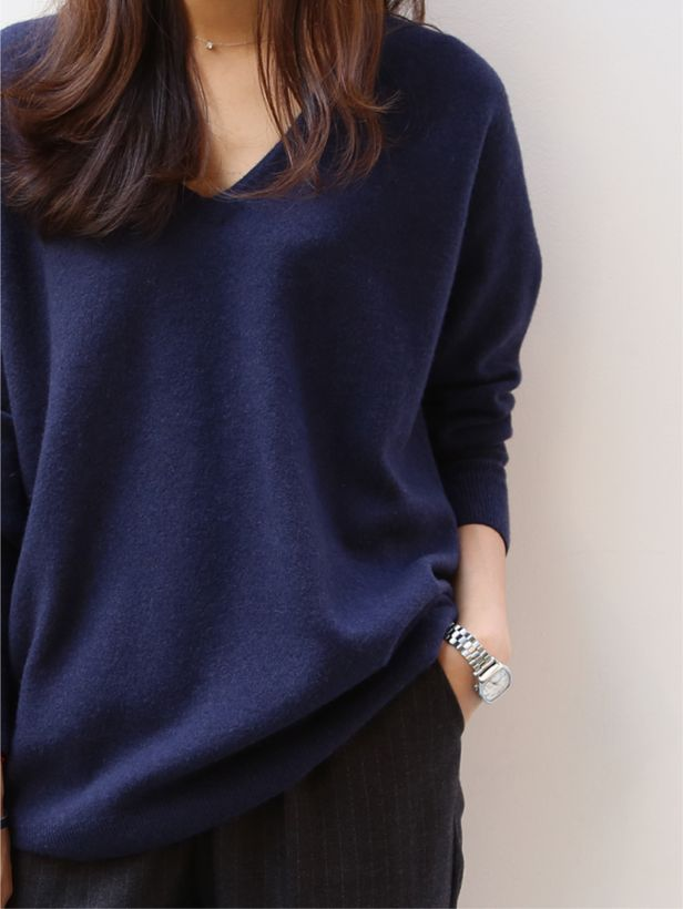 Love the simple clean look of the sweater. Such an easy and chic outfit- with skinny black pants or jeans for you. Nice watch too.