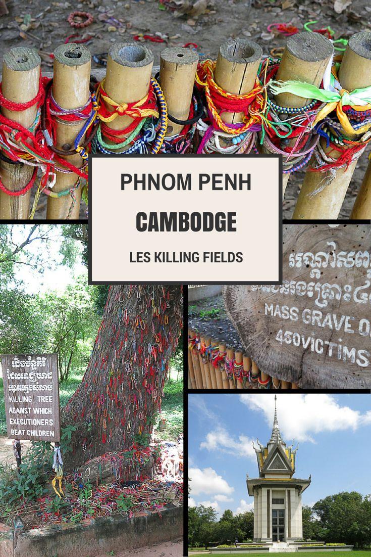 Visite du lieu où a eu lieu le génocide de milliers de Cambodgiens par les Khmer rouges