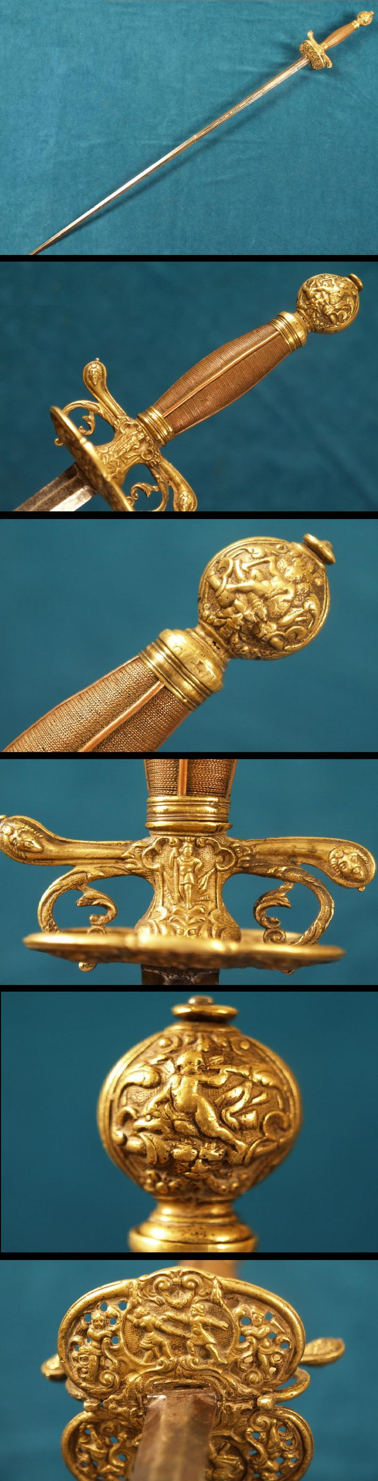 17th century Transitional Dutch Rapier Sword.