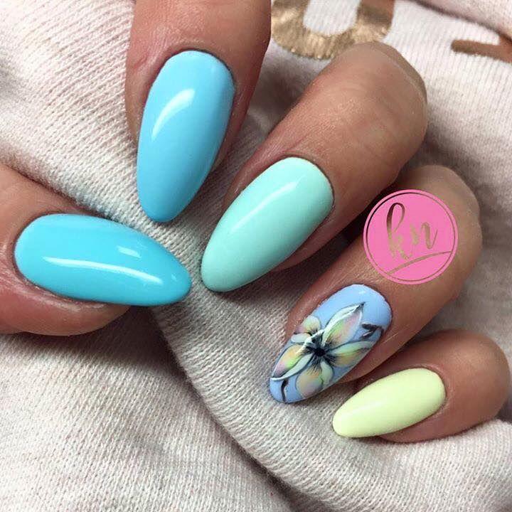 Gel Polish Miami Collection 2017 Florida Dream See You Later, Alligator Chiquita Banana By Karolina Klimkiewicz #nails #nail #pastel #indigo #indigonails #nailsart #pastelnails #miami #summernails #springnails #summer #spring