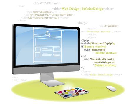 Web Design    Analisi, progettazione e sviluppo delle esigenze del cliente per riproporle sul web e dispositivi mobili in modo chiaro e professionale.  Funzionalità, usabilità, accessibilità, creatività e gusto estetico; creazione di interfacce utente e layout strutturati e dedicati.    Info: http://www.infinitodesign.it/design-multidisciplinare/web-design/