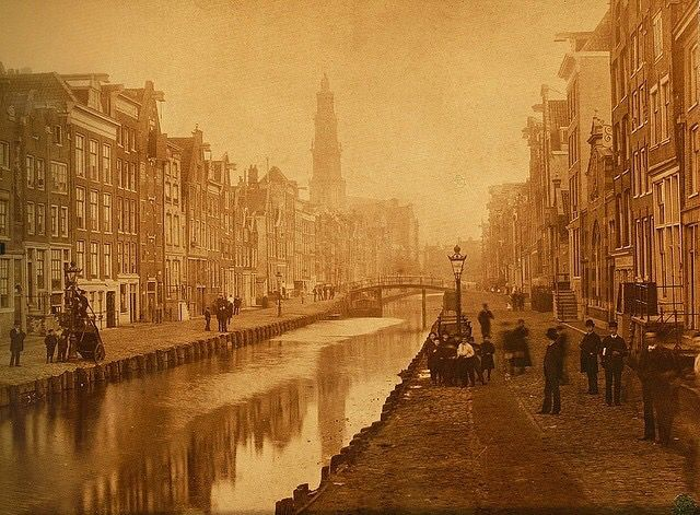 Rozengracht 1885 ( gedempt in 1890 )