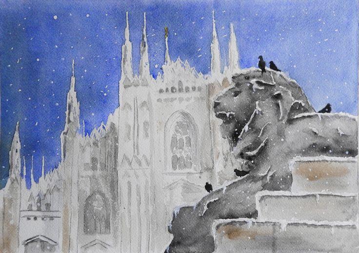 Piazza Duomo sotto la neve