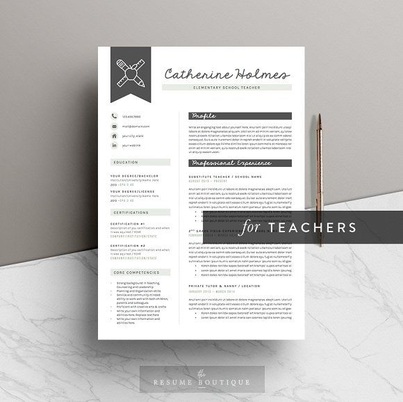 The 25+ best Teacher resume template ideas on Pinterest Resumes - professional teaching resume