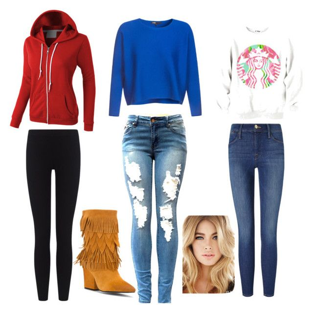 """""""3 cold day outfits!"""" by datdexterdog ❤ liked on Polyvore featuring LE3NO, James Perse, Frame Denim and Mojo Moxy"""