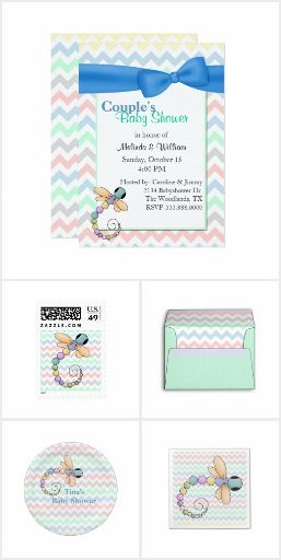 Cute Dragonfly Baby Shower Set