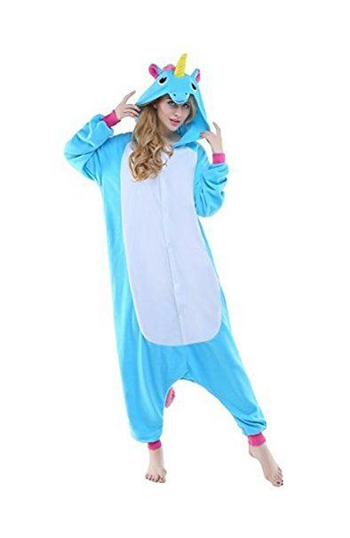 Tier Karton Kostum Einhorn Pyjamatierkostume Jumpsuit Erwachsene