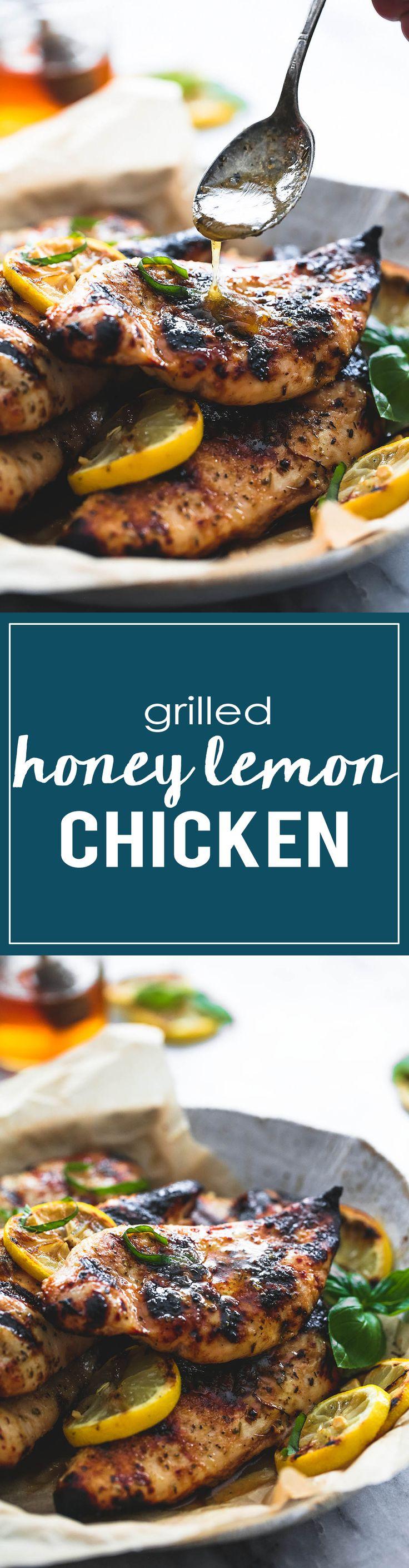 Grilled Honey Lemon Chicken | Creme de la Crumb