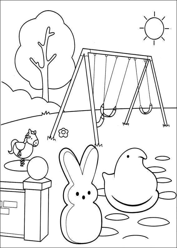 easter peeps coloring pages - photo#23