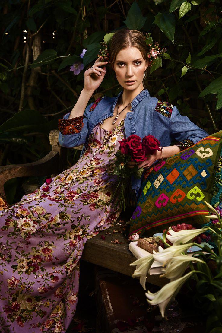 Garden boho fashion shoot by Sydney Photographer www.AliciaFoxPhotography.com.au