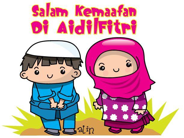 Alin's Cartoon: Salam Kemaafan... RAYA DAH DEKAT!!! YEEAAA!!!