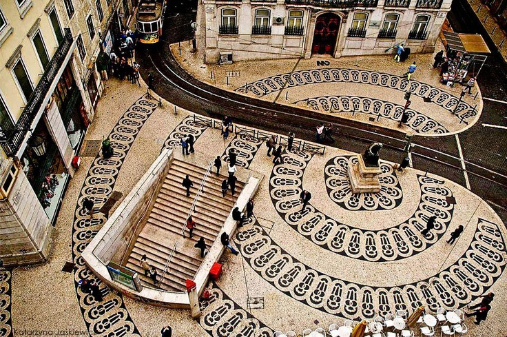 #Portugal | #Lisbon - Access of Baixa-Chiado subway station.