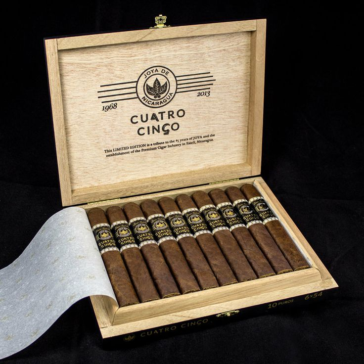 Joya de Nicaragua's latest and greatest Cuatro Cinco has arrived! This beauty was created to commemorate 45 years of cigar making wizardry and most definitely does not disappoint. http://www.dirtyleafcigars.com/products/joya-de-nicaragua-cuatro-cinco.html