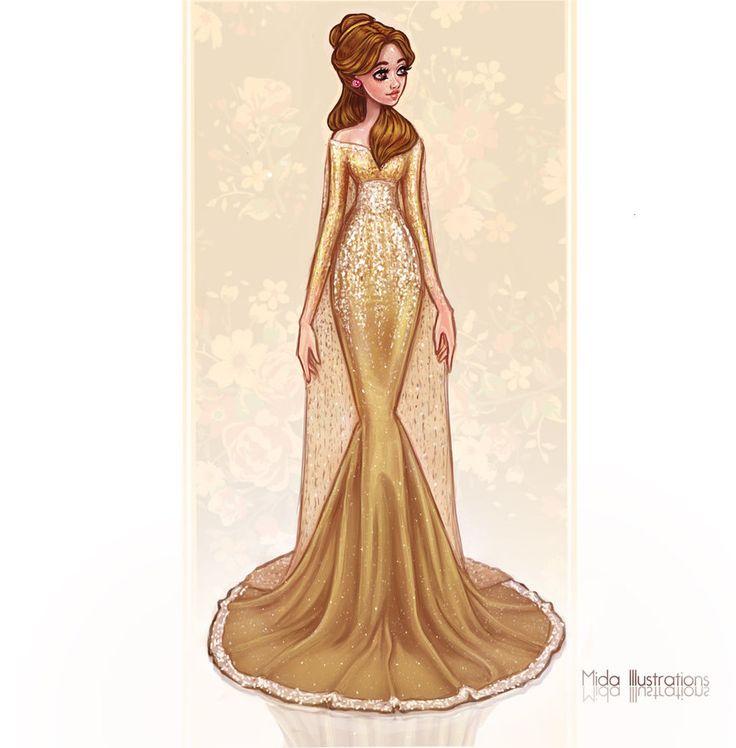 Belle by MidaIllustrations.deviantart.com on @DeviantArt