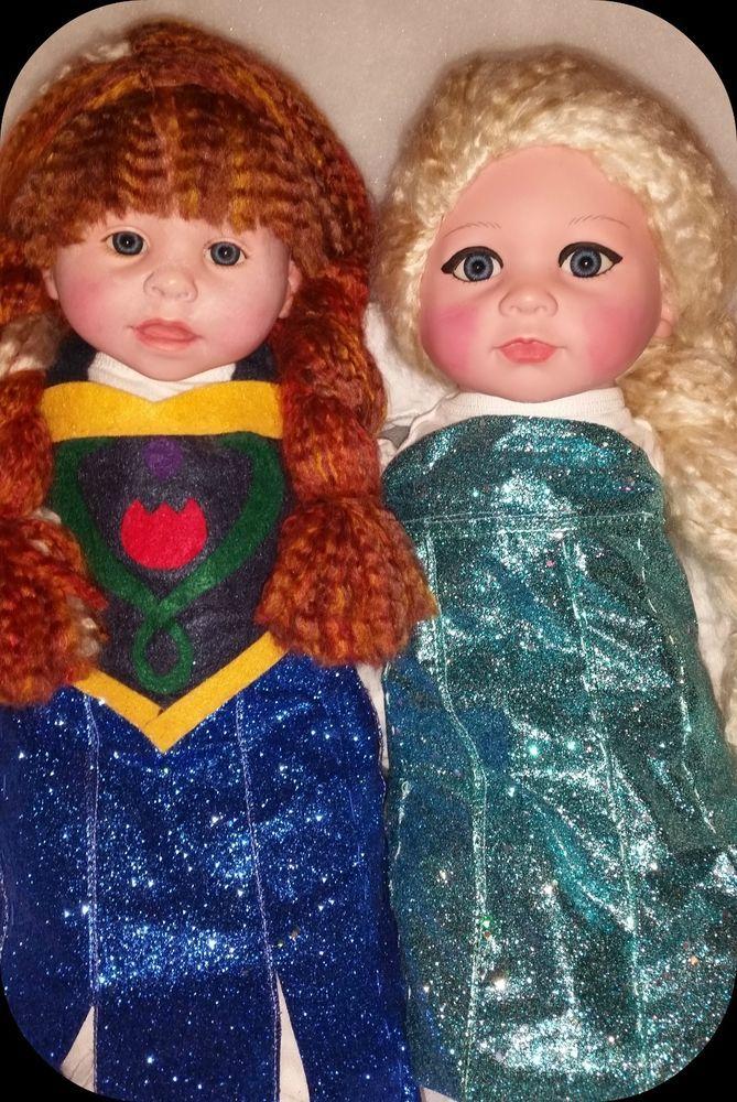 Elsa Amp Anna Ooak Baby Dolls Inspired By Disney S Frozen