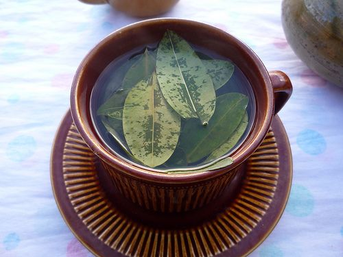 coca tea (It's good for altitude sickness and adjustment, and tastes pretty good too!)