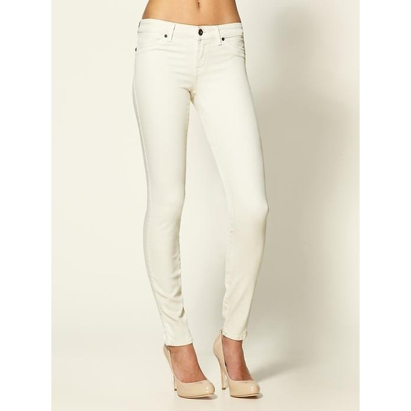 Off White Skinny Jeans - Is Jeans