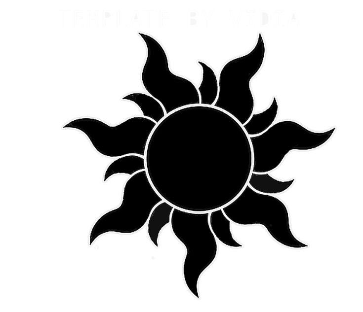 schwarze Sonne Tattoo Motiv von Rapunzel Film