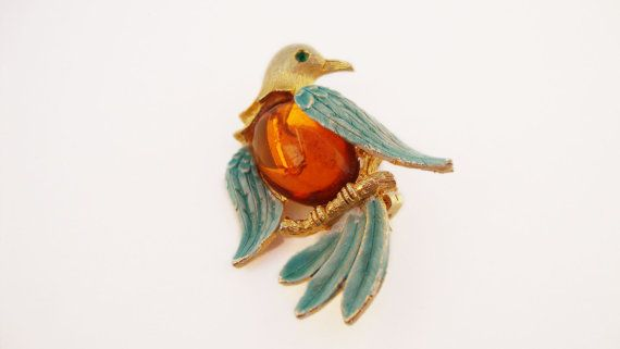 #Vintage #JJ Jelly Belly Bird #Brooch by Treasures On Broadway, $24.00