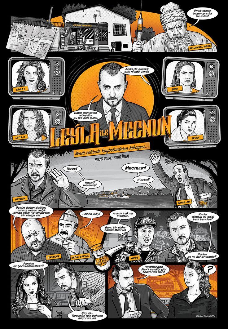 +Leyla ile Mecnun Poster+ OT Dergisi (Poster art for OT Magazine)