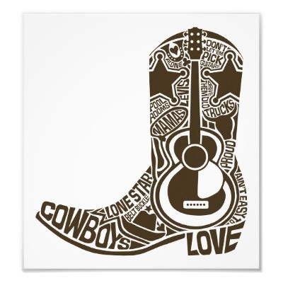 Cowboys, boots, guitars, country music...