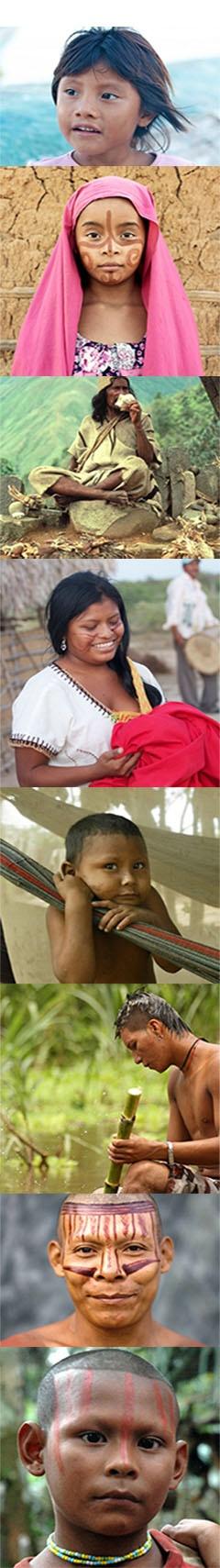 Las caras de #Colombia/The faces of Colombia. Una selección de las 106 hermosas tribus indígenas de #Colombia. Los Wayuu, Los Arhuaco y los Nukak