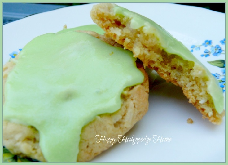 Coconut Cookies with Lime Icing | Happy Hodgepodge Home | Pinterest