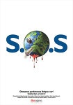Social Campaign: S.O.S  by ~dreaminbox  Issue: Global Warming  Slogan: World needs your help