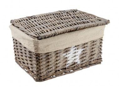 korb mit deckel stern 37 cm dieser trendige korb ist. Black Bedroom Furniture Sets. Home Design Ideas