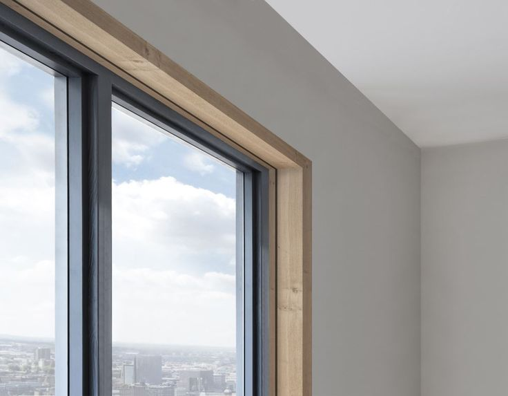 Concealed blinds using Blindspace boxes faced with timber.